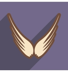 Stylish wings of an eagle vector