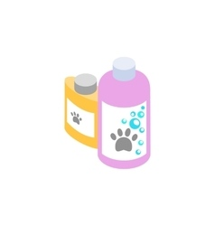 Shampoo and conditioner for animals icon vector