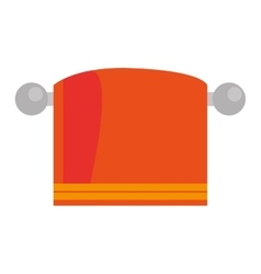 Orange towel icon vector