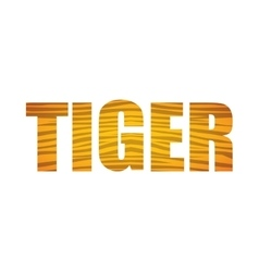 Tiger icon animal text design graphic vector