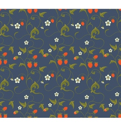 Seamless patterns with strawberries vector