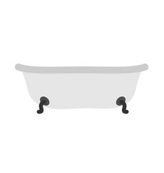 Bath isolated bathroom object on white background vector