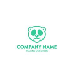 bear logo-3 vector image
