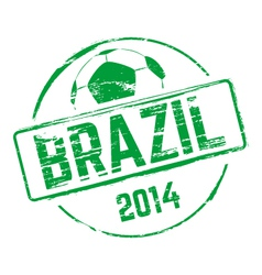 Brazil 2014 grunge rubber stamp vector image vector image