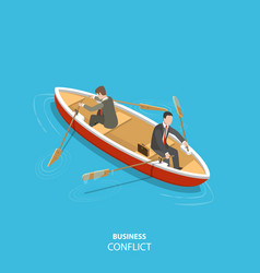 business conflict flat isometric low poly concept vector image vector image