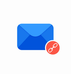 Chain email envelope link mail icon vector