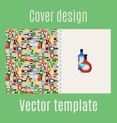 cover design with bar drinks vector image vector image