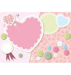 Cute love heart background vector