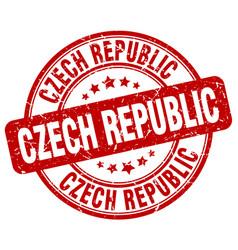 Czech republic stamp vector
