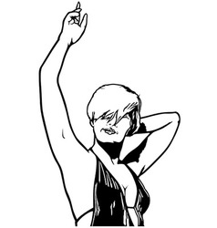 Dancing woman vector