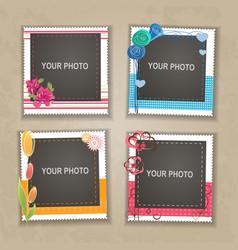 Design photo frame vector image vector image