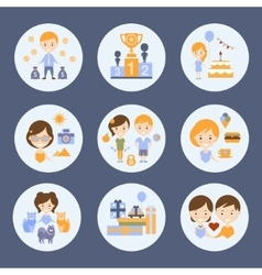 Different people and their happiness vector