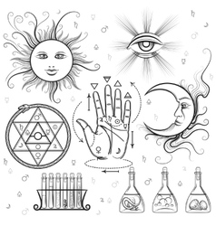 Esoteric signs symbols vector