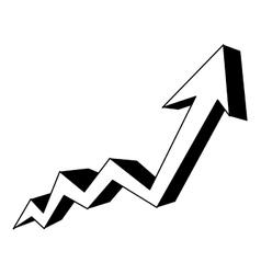 Grap growth arrow icon image vector