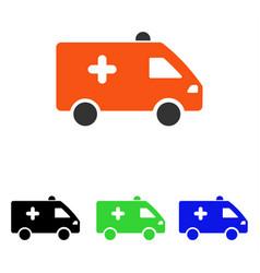 hospital car flat icon vector image vector image