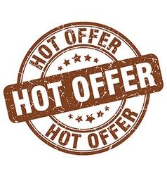 hot offer brown grunge round vintage rubber stamp vector image vector image
