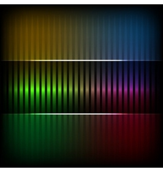 Neon abstract lines design on dark background vector image vector image