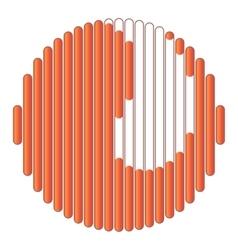 Orange circular loading icon cartoon style vector