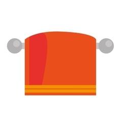 orange towel icon vector image