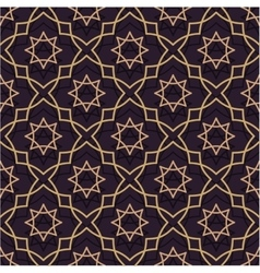 Oriental seamless pattern of purple and gold thin vector