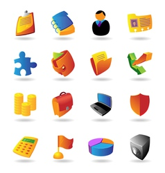 Realistic icons set for business vector image vector image