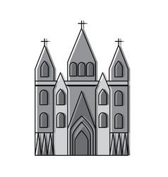 sagrada familia gaudi basilica temple church in vector image
