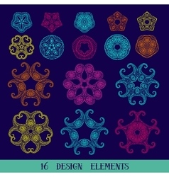 set of graphical design elements vector image vector image