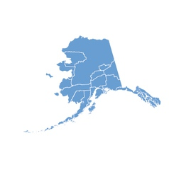 State Map of Alaska by counties vector image