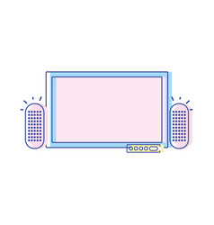 Television and videogame console to play vector