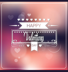 Valentine day background bokeh heards poster vector