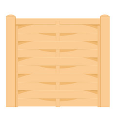 Wicker fence icon cartoon style vector