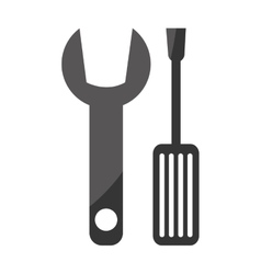 Wrench and screwdriver construction tools vector image vector image