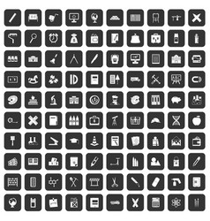 100 pensil icons set black vector