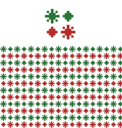 Christmas geometric pattern swatch vector