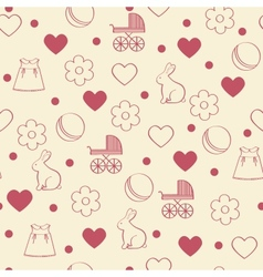 Seamless girly background vector