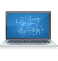 laptop frontal cad systems vector image