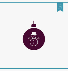 Christmas tree toy icon simple vector
