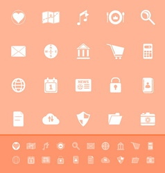 General application color icons on orange vector