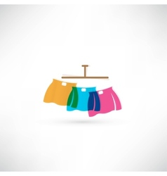Skirt icon vector