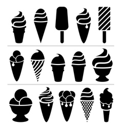 Ice-cream icons vector