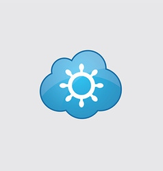Blue cloud ship wheel icon vector