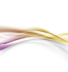 Abstract golden border modern swoosh wave layout vector image