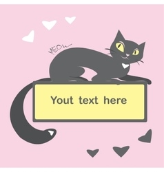 Background with black cat and space for text vector