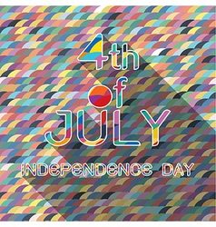 4th Julywith pattern background vector image