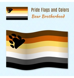 Bear brotherhood pride flag with correct color vector