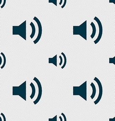 Speaker volume sign icon sound symbol seamless vector