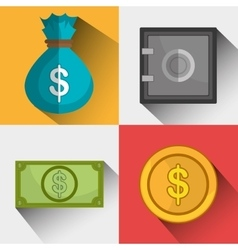 Money savings and business design vector