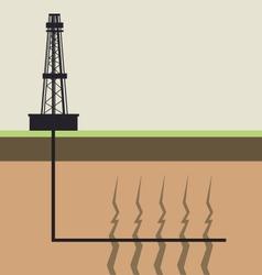 fracking diagram vector image