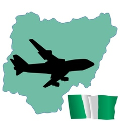 Fly me to the nigeria vector