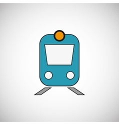 Travel on train design flat vector